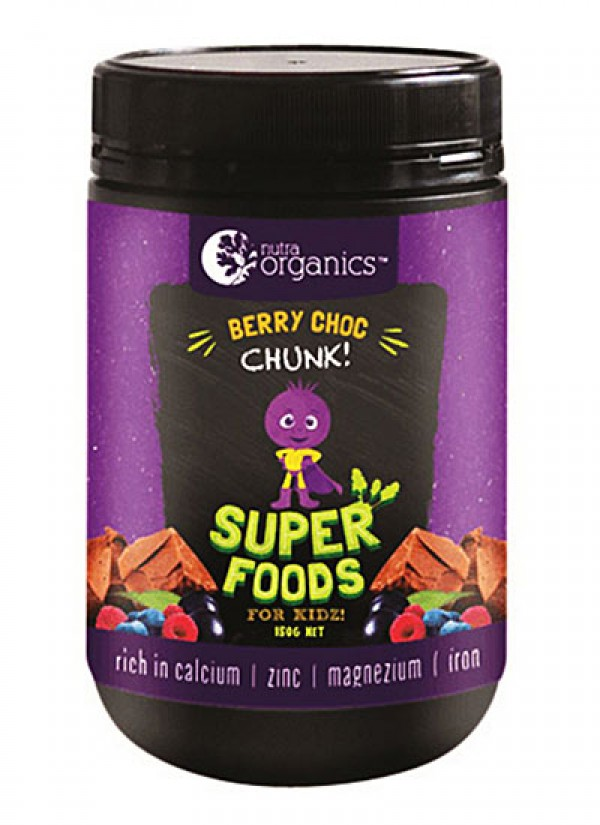 Nutra Organic Superfoods for kidz berry choc chunk powder 150g